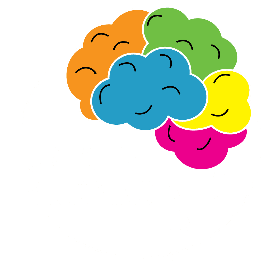 Negative Logo creative storming in white color