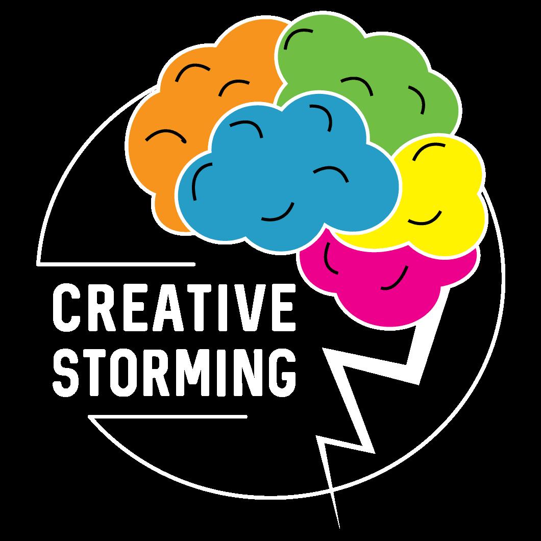 logo Creative Storming bianco